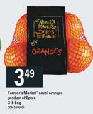 Farmer's Market Navel Oranges Product Of Spain - 3 Lb Bag