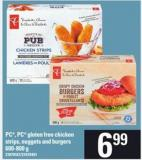PC - PC Gluten Free Chicken Strips - Nuggets And Burgers.600-800 G