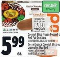 Coconut Bliss Frozen Dessert Or Nudfud Crackers
