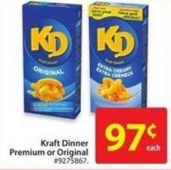 Kraft Dinner Premium or Original