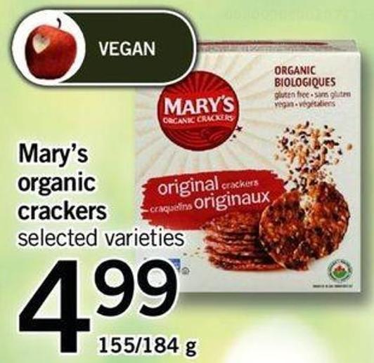 Mary's Organic Crackers - 155/184 g