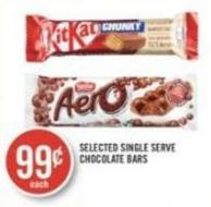 Selected Single Serve Chocolate Bars