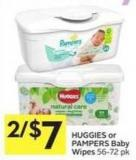 Huggies or Pampers Baby Wipes