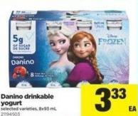 Danino Drinkable Yogurt - 8x93 mL