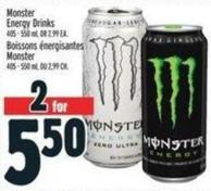 Monster Energy Drinks 405 - 550 ml Or 2.99 Ea.