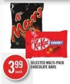 Selected Multi-pack Chocolate Bars