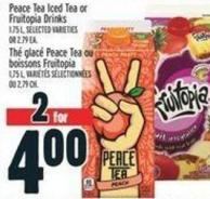 Peace Tea Iced Tea Or Fruitopia Drinks  1.75 L