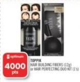 Toppik Hair Building Fibers (12g) or Hair Perfecting Duo Kit (1's)