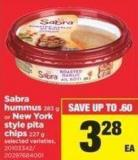 Sabra Hummus - 283 G Or New York Style Pita Chips - 227 G