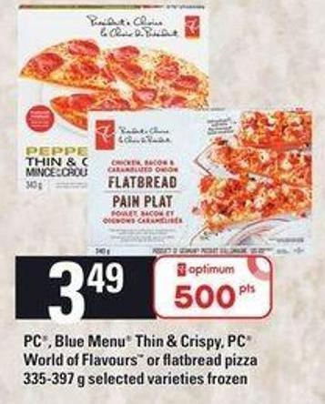 PC - Blue Menu Thin & Crispy - PC World Of Flavours Or Flatbread Pizza 335-397 G