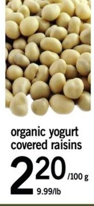 Organic Yogurt Covered Raisins - 100 G