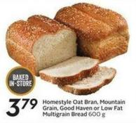 Homestyle Oat Bran - Mountain Grain - Good Haven or Low Fat Multigrain Bread H 600 g