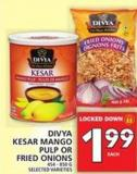 Divya Kesar Mango Pulp Or Fried Onions