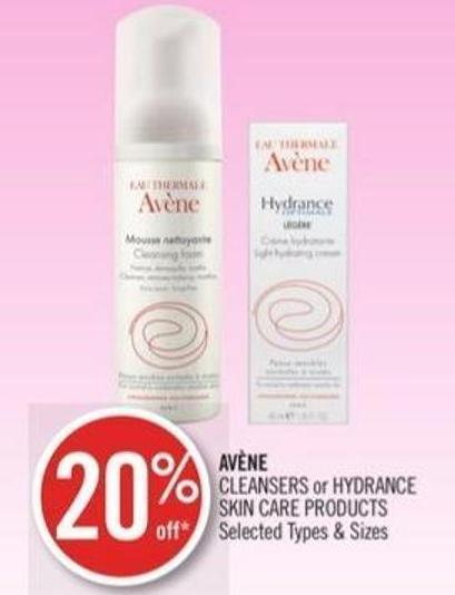 Avène Cleansers or Hydrance Skin Care Products