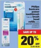 Philips Sonicare Power Toothbrush - 1 Ea. Or Brush Head Refills - 2-3's