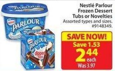 Nestlé Parlour Frozen Dessert Tubs or Novelties