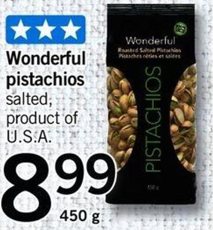 Wonderful Pistachios - 450 G