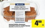 Peanut Brittle Cinnamon Pumpkin Seed Or Cookie Flavour - 250/275 g
