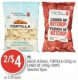 PC Salsa (430ml) - Tortilla (320g) or Loads Of (200g) Chips