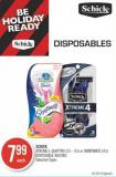 Schick Xtreme3 - Quattro (3's - 4's) or Skintimate (4's) Disposable Razors