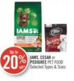Iams - Cesar or Pedigree Pet Food