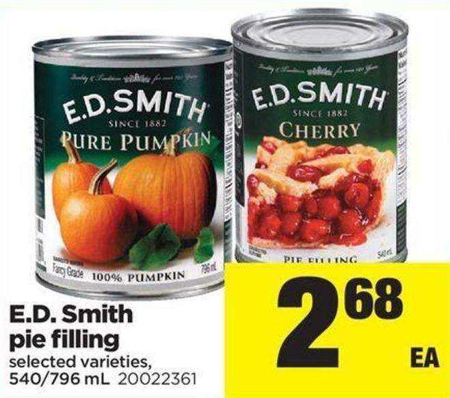 E.d. Smith Pie Filling - 540/796 mL