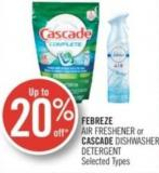 Febreze Air Freshener or Cascade Dishwasher Detergent
