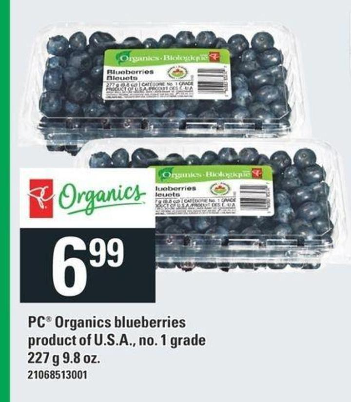 PC Organics Blueberries - 227 G 9.8 Oz.