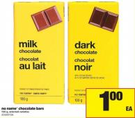 No Name Chocolate Bars - 100 g
