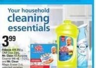 Febreze Air - 250 g Car Clips - 2 Ml Mr. Clean All Purpose Cleaner - 946 Ml - 1.2 L And Mr. Clean Magic Eraser - 2 Ct