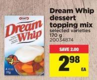 Dream Whip Dessert Topping Mix - 170 g