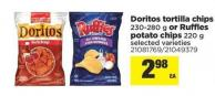 Doritos Tortilla Chips - 230-280 G Or Ruffles Potato Chips - 220 G