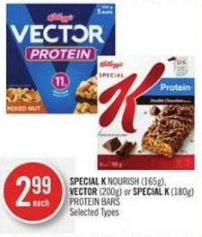Special K Nourish (165g) - Vector (200g) or Special K (180g) Protein Bars