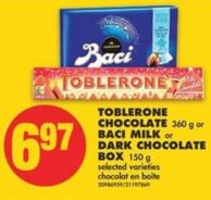 Toblerone Chocolate 360 g or Baci Milk or Dark Chocolate Box 150 g