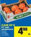 PC Kaki Persimmons - Case Of 6