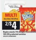 Bugles Snacks - 115-225 G Or PC Crackers - 120-220 G