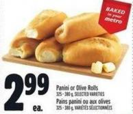 Panini Or Olive Rolls 325 - 380 g