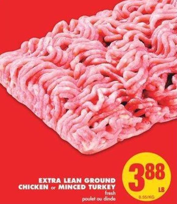 Extra Lean Ground Chicken Or Minced Turkey