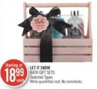 Let It Snow Bath Gift Sets