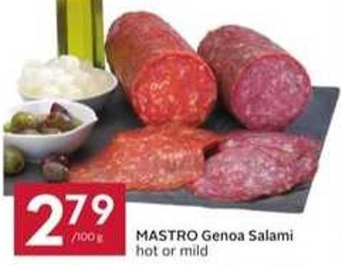 Mastro Genoa Salami Hot or Mild