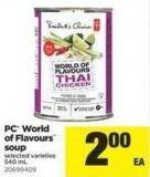 PC World Of Flavours Soup - 540 mL