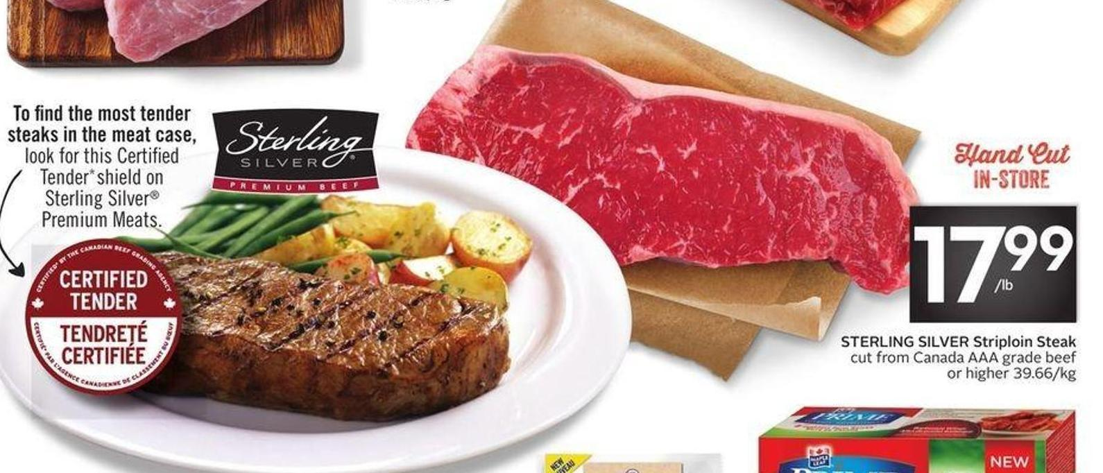 Sterling Silver Striploin Steak