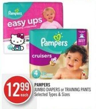 Pampers Jumbo Diapers or Training Pants