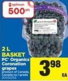 PC Organics Coronation Grapes