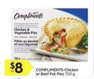 Compliments Chicken or Beef Pot Pies