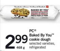 PC Baked By You Cookie Dough - 468 g