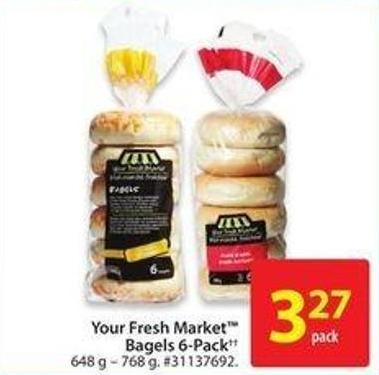 Your Fresh Market Bagels 6-pack