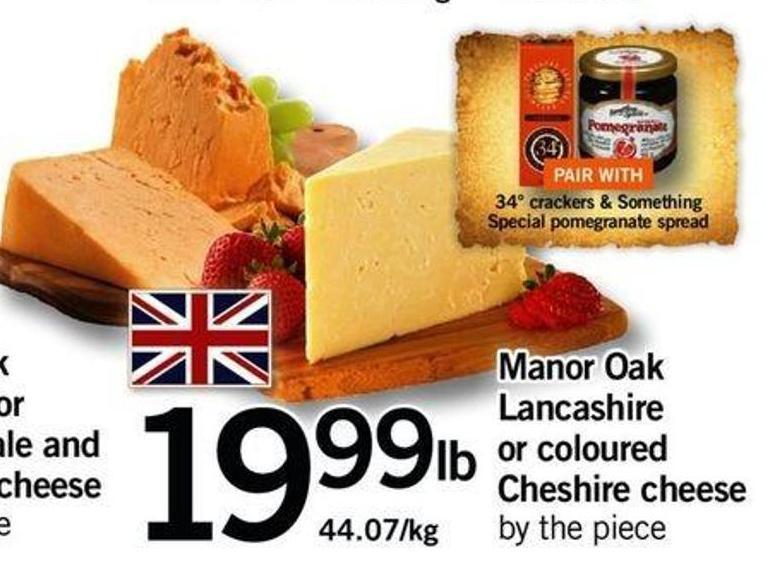 Manor Oak Lancashire Or Coloured Cheshire Cheese