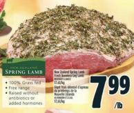 New Zealand Spring Lamb Fresh Boneless Leg Lamb
