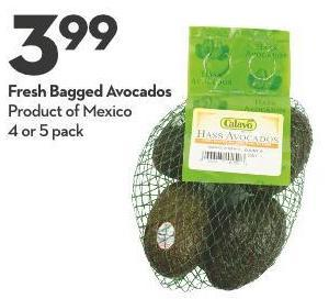 Fresh Bagged Avocados